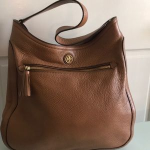 Tory Burch pebble leather tote